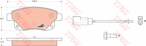 GDB1725 Колодки тормозные FORD TRANSIT 06- задние с датчиком