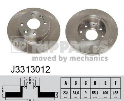 j3313012 Тормозной диск