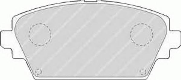 FDB1580 Колодки тормозные NISSAN PRIMERA (P12) 02/ALMERA TINO 0005 передние