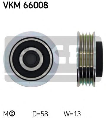 VKM66008 Ролик ремня приводного SUZUKI IGNIS/SWIFT/SX4 1.0-1.6 98-