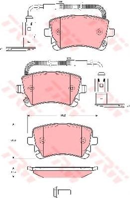 GDB1508 Колодки тормозные дисковые задн AUDI: A4 05-, A4 Avant 05-,  VW: PHAETON 02-
