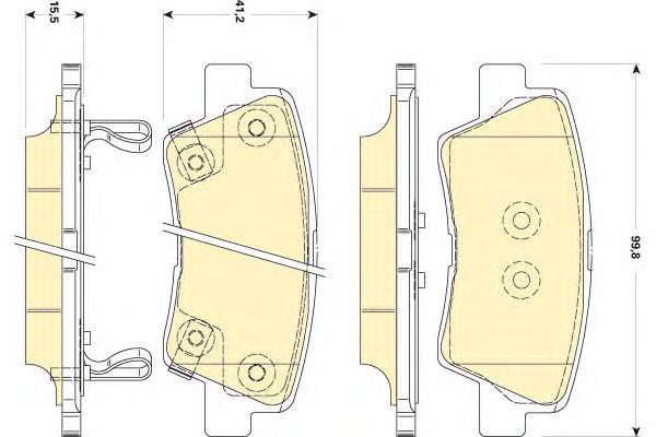 6134949 Колодки тормозные HYUNDAI SOLARIS 10-/SONATA V (NF) 05-/KIA SOUL 09- задние