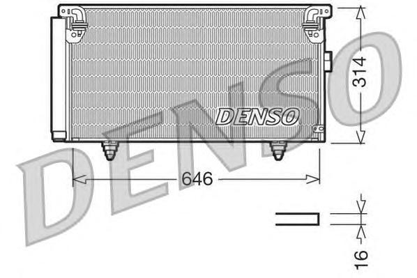 DCN36001 Радиатор кондиционера SUB Legacy IV, Outback