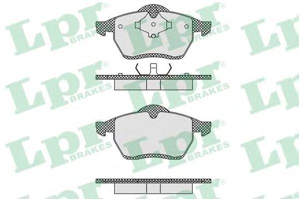 05P612 Колодки тормозные VOLKSWAGEN SHARAN 2.0/2.8/1.9D /FORD GALAXY 9506 передние