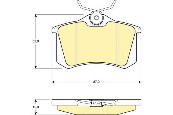 6108231 Колодки тормозные AUDI A4/A6/RENAULT SCENIC/VW GOLF 2/3/PASSAT задние