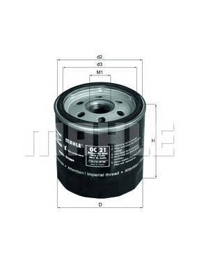 OC21OF Фильтр масляный OPEL/FORD -98 (без упак.)