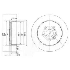 BG3691 Диск тормозной TOYOTA RAV 4 II 1.8-2.0 00-06 задний D=303мм.