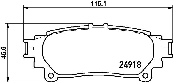 8DB355015371 Колодки тормозные LEXUS RX 350/450h 09- задние