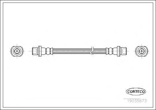 19035873 Шланг тормозной задн LEXUS: LX 4.2D/4.7 98-07  TOYOTA: LAND CRUISER 4.2D/4.7 98-07