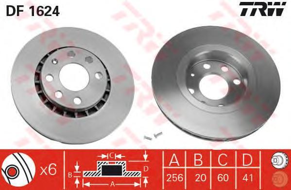 df1624 Тормозной диск
