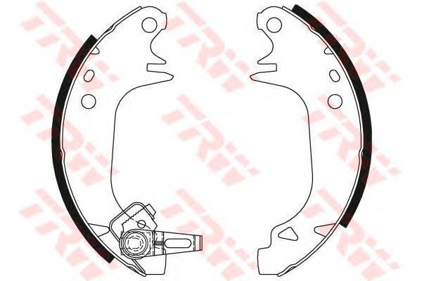 GS8321 Колодки тормозные барабанные задн PEUGEOT: 309 I 85-89, 309 II 89-93,  RENAULT: 11 83-88, 11 фургон 83-88, 5 72-85, 9 81-