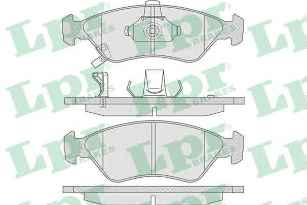 05P810 Колодки тормозные KIA CLARUS 1.8/2.0 96- передние