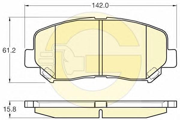 6135627 Колодки тормозные MAZDA CX-5 11- передние