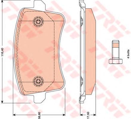 GDB1765 Колодки тормозные AUDI A4/A5/Q5 1.8-3.2 07- задние
