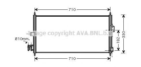 DN5270 Радиатор кондиционера NISSAN: ALMERA II (N16) 1.5/1.8/2.2 Di/2.2 dCi 00 - , ALMERA II Hatchback (N16) 1.5/1.8/2.2 Di/2.2