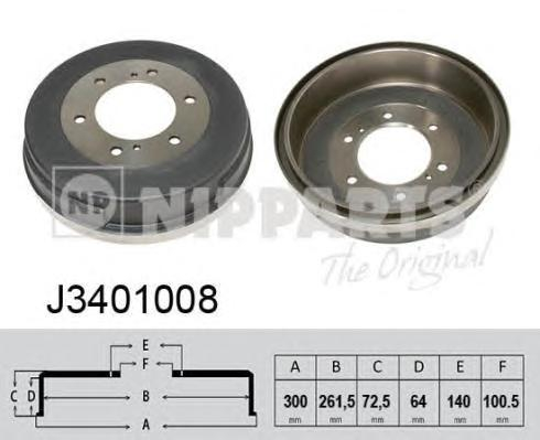 J3401008 Барабан тормозной NISSAN PATHFINDER/PICK UP/TERRANO