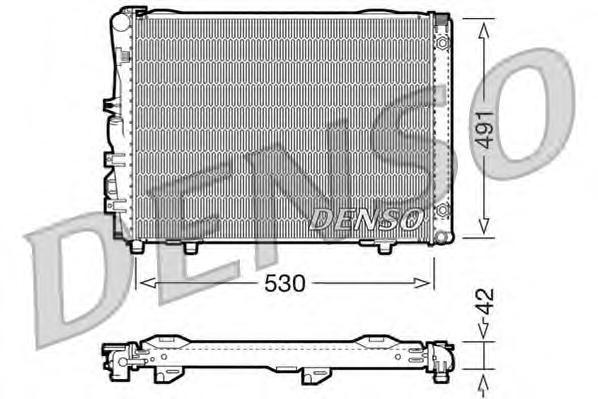 DRM17030 Радиатор системы охлаждения MERCEDES-BENZ: CABRIOLET (A124) 300 CE-24 (124.061) 91 - 93 , COUPE (C124) 300 CE/300 CE (1