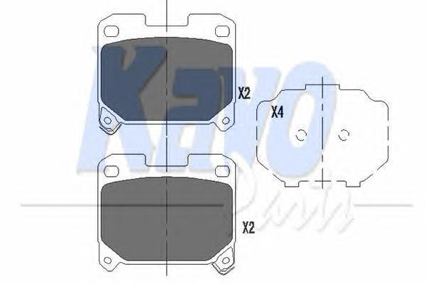 KBP9063 Колодки тормозные TOYOTA CELICA 2.0 94-97/SUPRA 3.0 93-98 задние