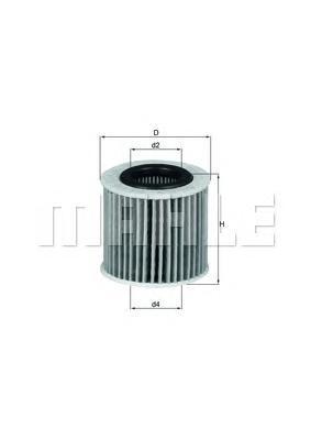 OX416D2 Фильтр масляный TOYOTA 1.3-2.0