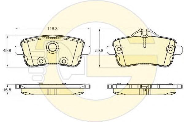 6119471 Колодки тормозные MERCEDES GL X166/ML W166 задние