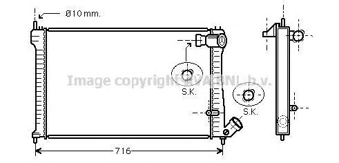 CNA2102 Радиатор системы охлаждения CITROEN: XM (Y4) 2.0 Turbo/2.1 TD 12V 94 - 00 , XM Break (Y4) 2.0 Turbo/2.1 TD 12V 94 - 00