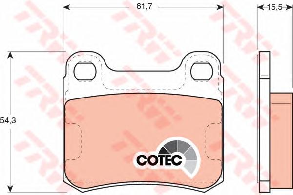 GDB911 Колодки тормозные MERCEDES W202/W124/W201 задние