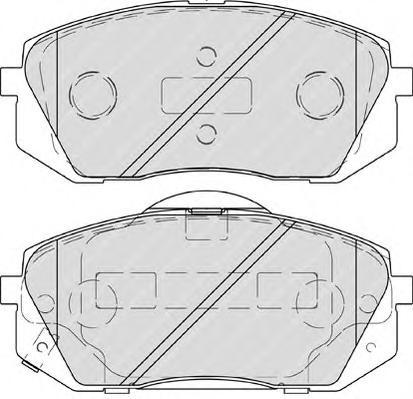 FDB4194 Колодки тормозные HYUNDAI IX35 10-/KIA SPORTAGE 10-/CARENS 02- передние