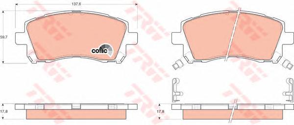 GDB3217 Колодки тормозные SUBARU FORESTER 9702/LEGACY 9603/OUTBACK 0003 передние