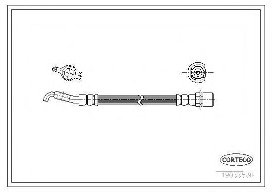 19033530 Шланг тормозной LEXUS: LS 430 00-06, LS 460 06-