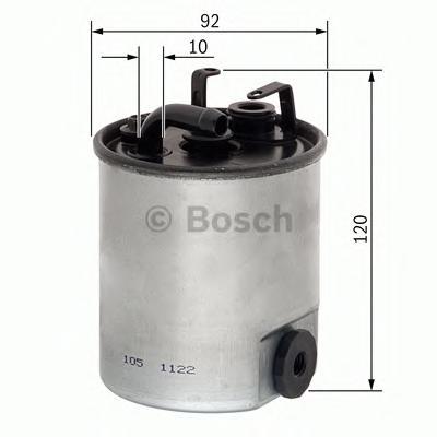 F026402044 Фильтр топливный MB SPRINTER (901-904)/VITO (638) 2.2D