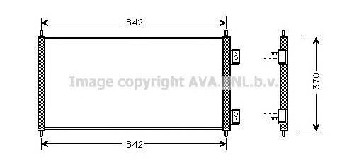 FD5303 Конденсер FORD TRANSIT 2.0-2.4D M/T 00-