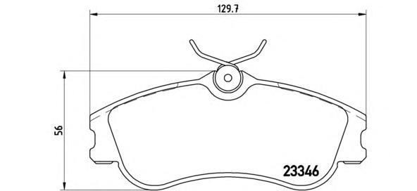 P61069 Колодки тормозные CITROEN BERLINGO/PEUGEOT PARTNER 96- передние без датч.