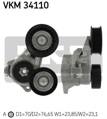 VKM34110 Натяжитель ремня приводного FORD FOCUS 1.8D 04-