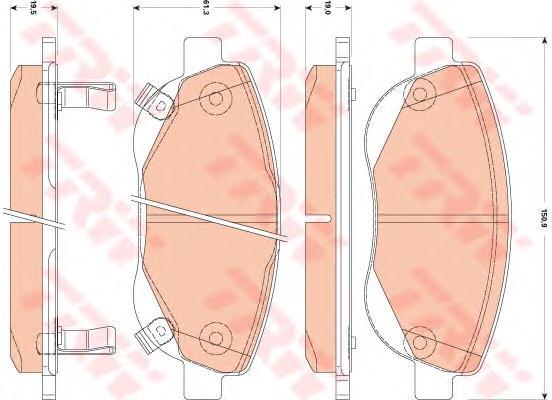 GDB3511 Колодки тормозные TOYOTA AVENSIS/VERSO 2.2D 09- передние