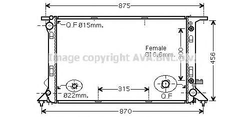 AIA2309 Радиатор AUDI Q5 3.0TD A/T 08-