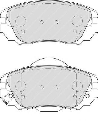 "FDB4207 Колодки тормозные OPEL INSIGNIA 08-/SAAB 9-5 10- R16"" передние"