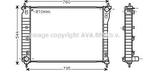OL2435 Радиатор системы охлаждения CHEVROLET: CAPTIVA 2.4/2.4 4WD/3.2 4WD 06 -   OPEL: ANTARA 2.4/3.2 V6 06 -   VAUXHALL: ANTARA