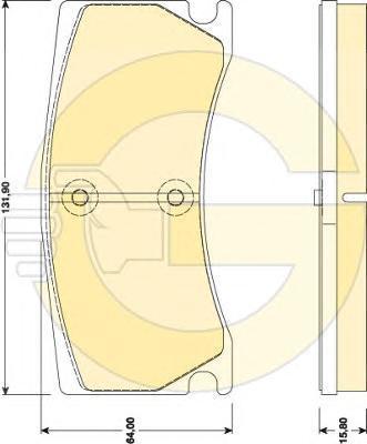 6118019 Комплект тормозных колодок, дисковый тормоз