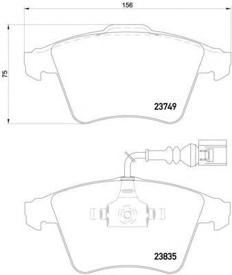 8DB355011621 Колодки тормозные VOLKSWAGEN TOUAREG R16 03 передние