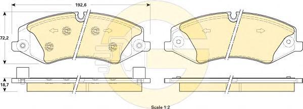 6118981 Колодки тормозные LAND ROVER DISCOVERY 09-/RANGE ROVER SPORT 09- передние
