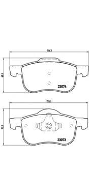 P86016 Колодки тормозные VOLVO S60/S70/S80/V70/XC70 00- передние