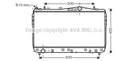 DWA2073 Радиатор CHEVROLET LACETTI 1.4-1.8 M/T 04-