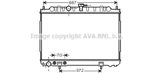 DN2239 Радиатор системы охлаждения NISSAN: X-TRAIL (T30) 2.0/2.0 4x4/2.5 4x4 01 -