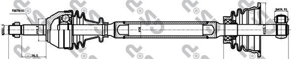 250150 Привод в сборе RENAULT CLIO II/KANGOO 1.2-1.6 97-09 лев.