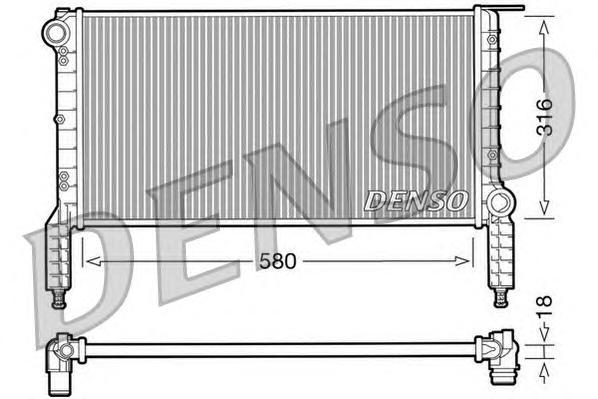 DRM09064 Радиатор системы охлаждения FIAT: DOBLO (119) 1.2 (223AXA1A)/1.6 16V (223AXD1A) 01 -