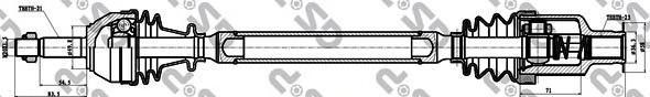 250151 Привод в сборе RENAULT CLIO II/KANGOO 1.2-1.6 97-09 прав.