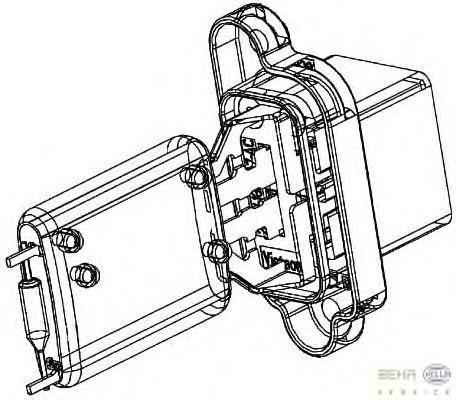 9ml351332361 Сопротивление, вентилятор салона