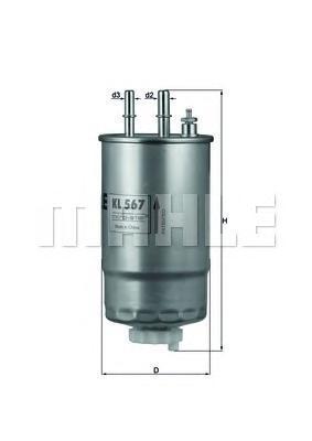 KL567 Фильтр топливный FORD/FIAT/PEUGEOT/CITROEN/OPEL 1.3D-3.0D 04-