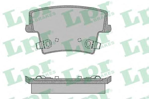 05P1400 Колодки тормозные CHRYSLER 300C 04- задние