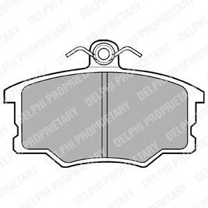 LP453 Колодки тормозные дисковые, комплект